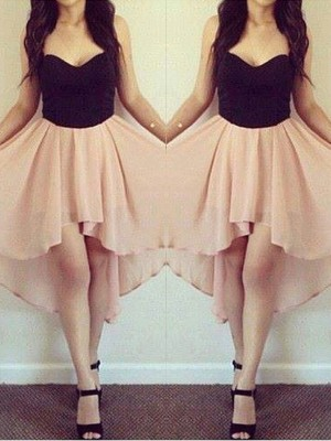 A-Line/Princess Sleeveless Sweetheart Chiffon Short/Mini Dresses