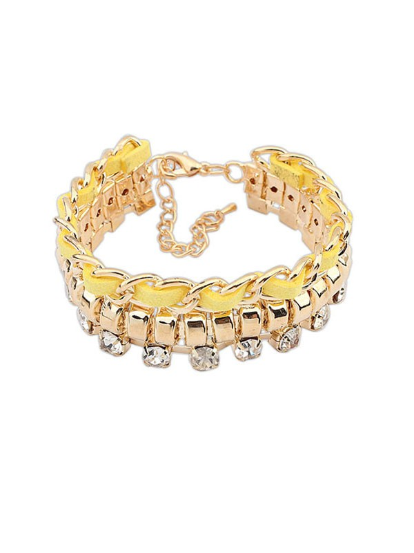Occident Fashionable New Flash Drilling Woven Bracelets
