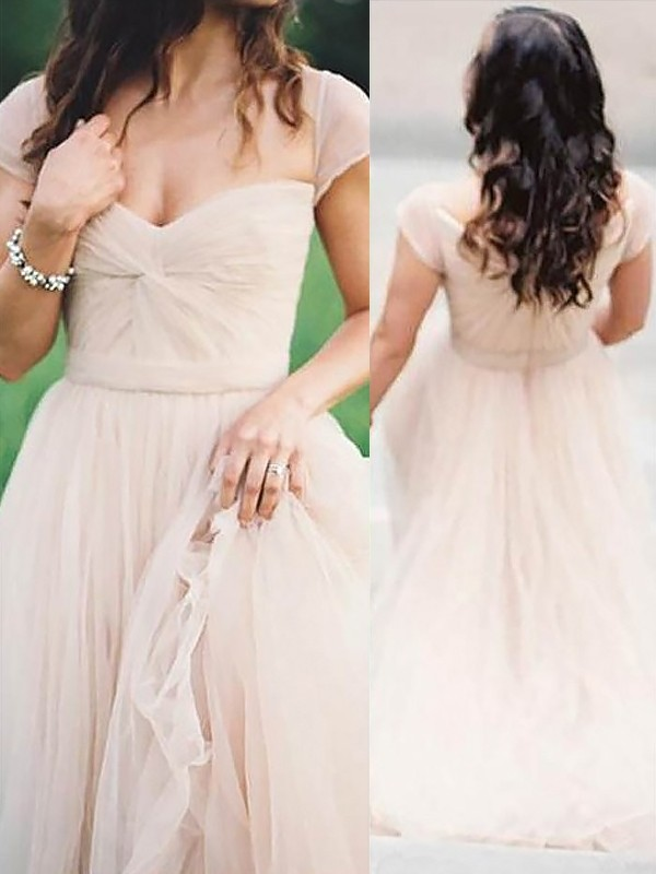 Sweetheart A-Line/Princess Sleeveless Floor-Length Ruched Chiffon Dresses