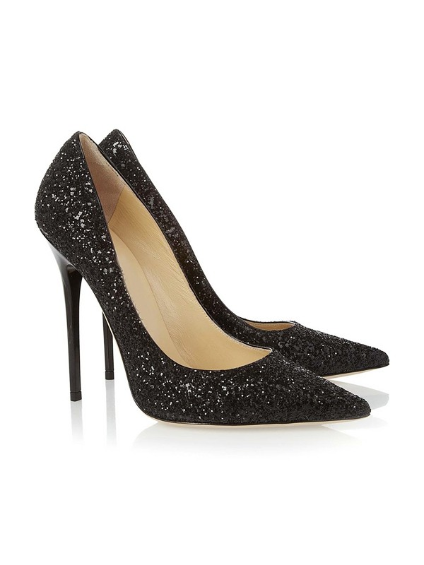 Women's Closed Toe Stiletto Heel With Sequin Party & Evening Shoes