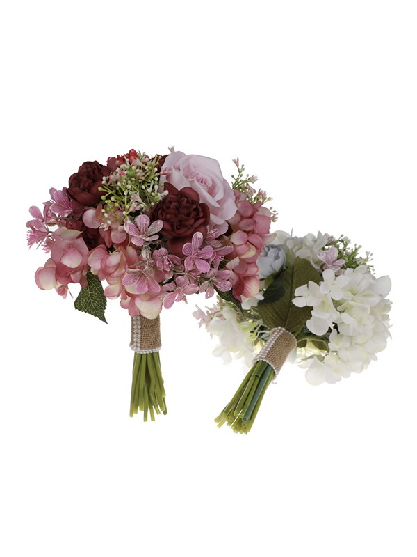 Sweet Round Plastic Bridal Bouquets