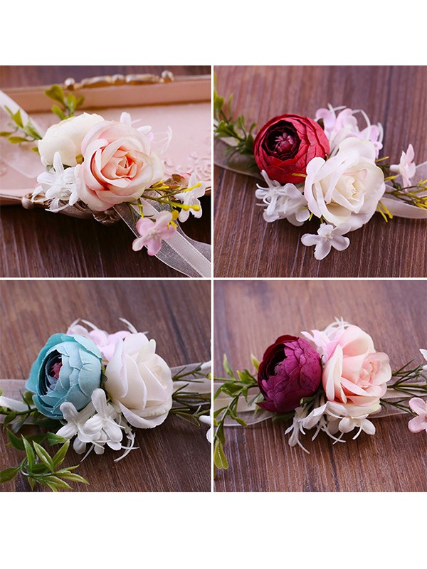 Graceful Artificial Flower Wrist Corsage